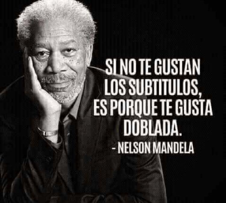 Te gusta doblada Nelson Mandela