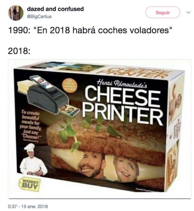 Impresora de queso cheese printer