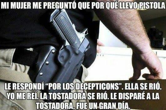 Por qué llevar pistola