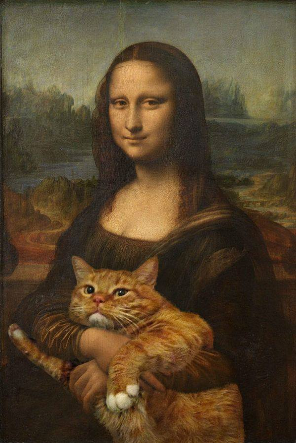 gato al óleo
