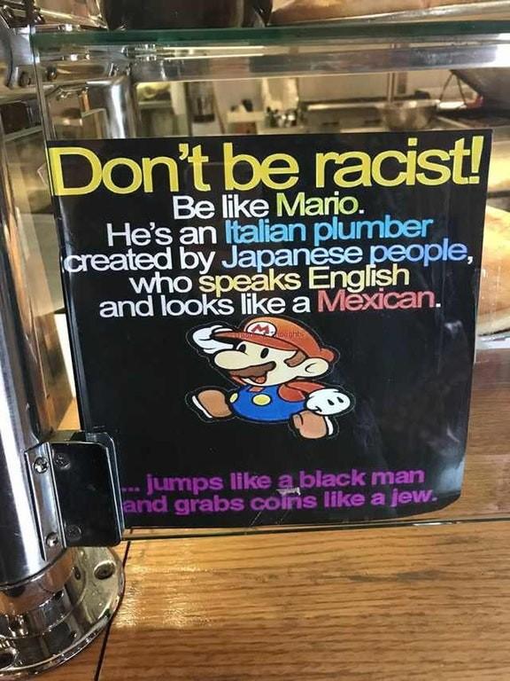 Mensaje de Super Mario Bros