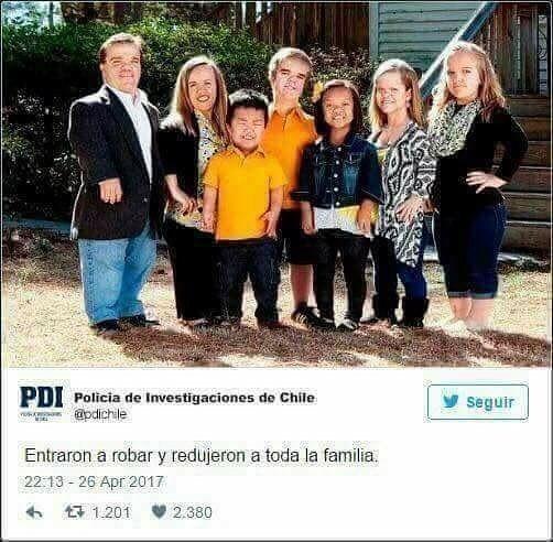 Redujeron a la familia enanos policía chile
