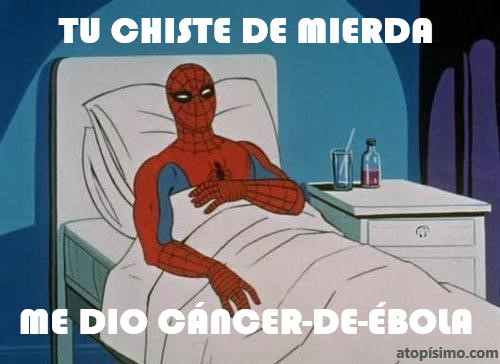 Chiste cancer Spiderman