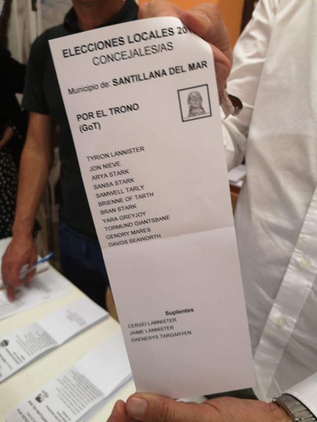 10N papeleta voto GoT