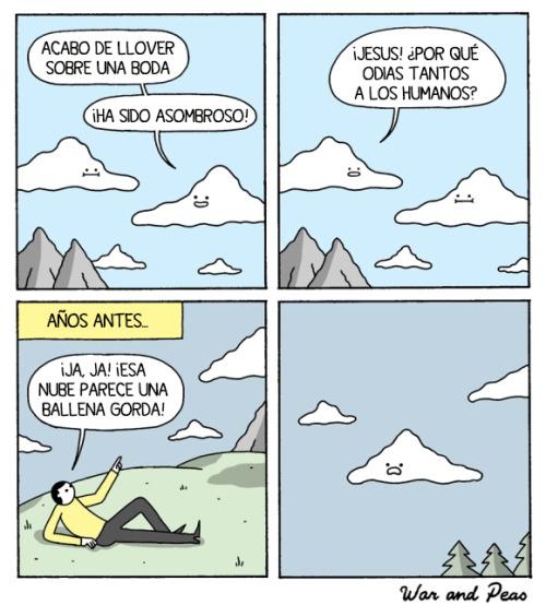 No insultes a las nubes