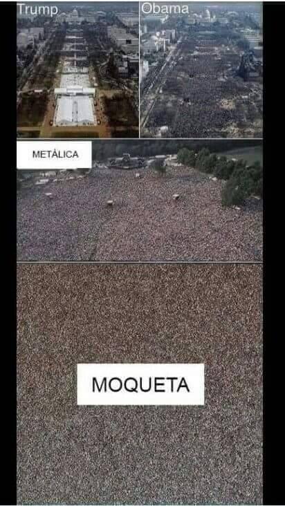 Metálica moqueta