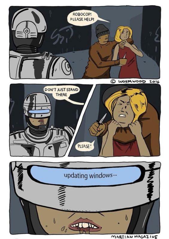 Robocop usa Windows 10