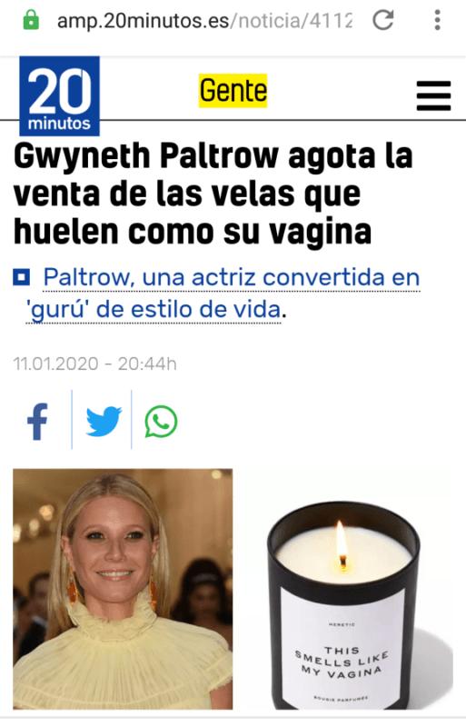 Gwyneth Paltrow Velas