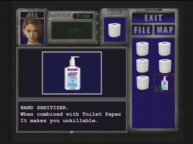 Jill Resident Evil Toilet Paper