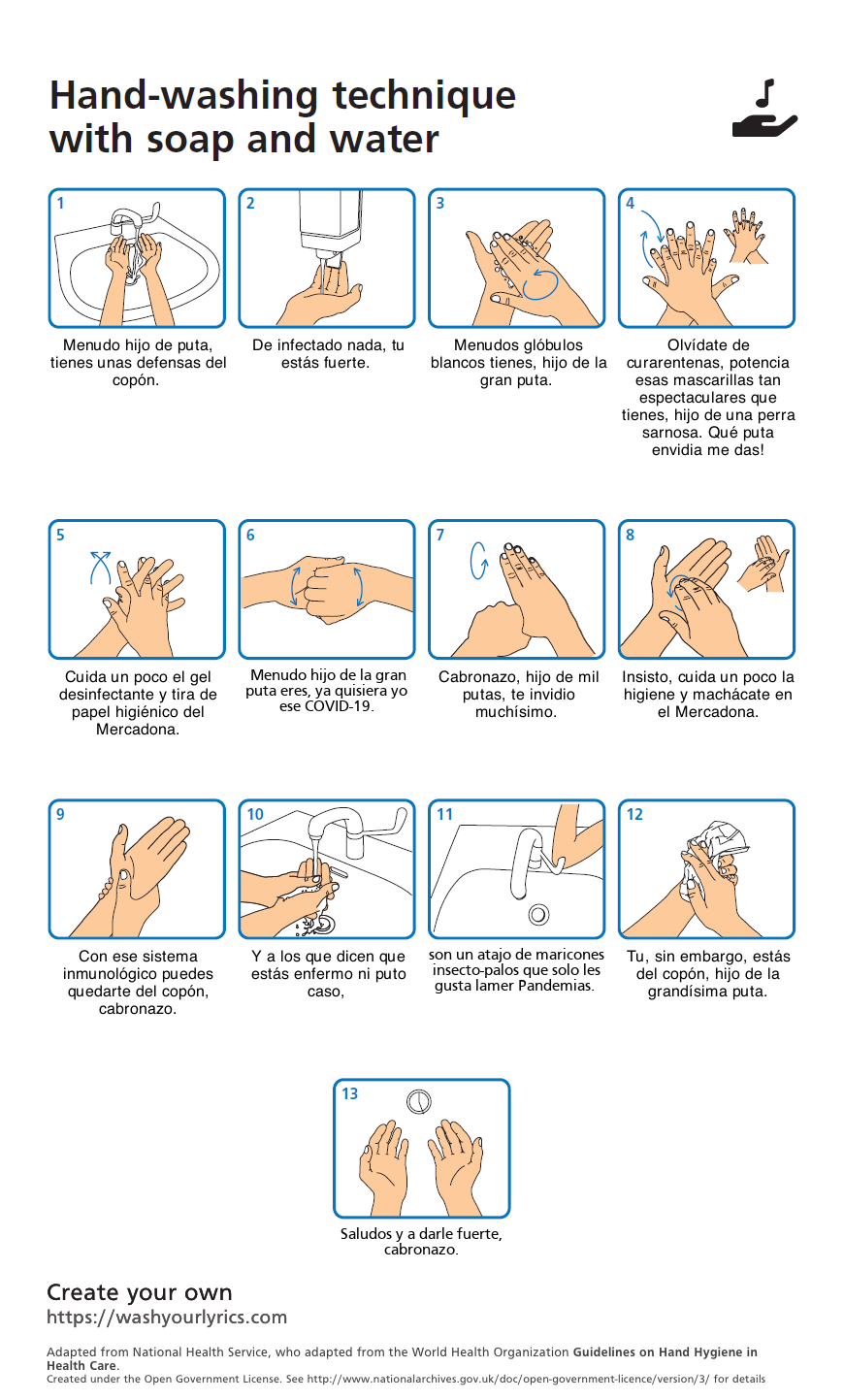Manual de cómo lavarse las manos y acabar con los viruses y estar motivado
