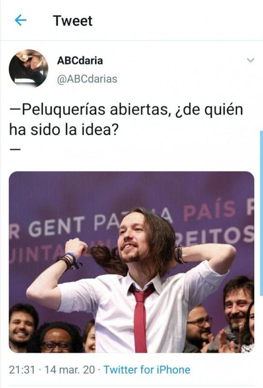 Peluquerías abiertas Pablo Iglesias