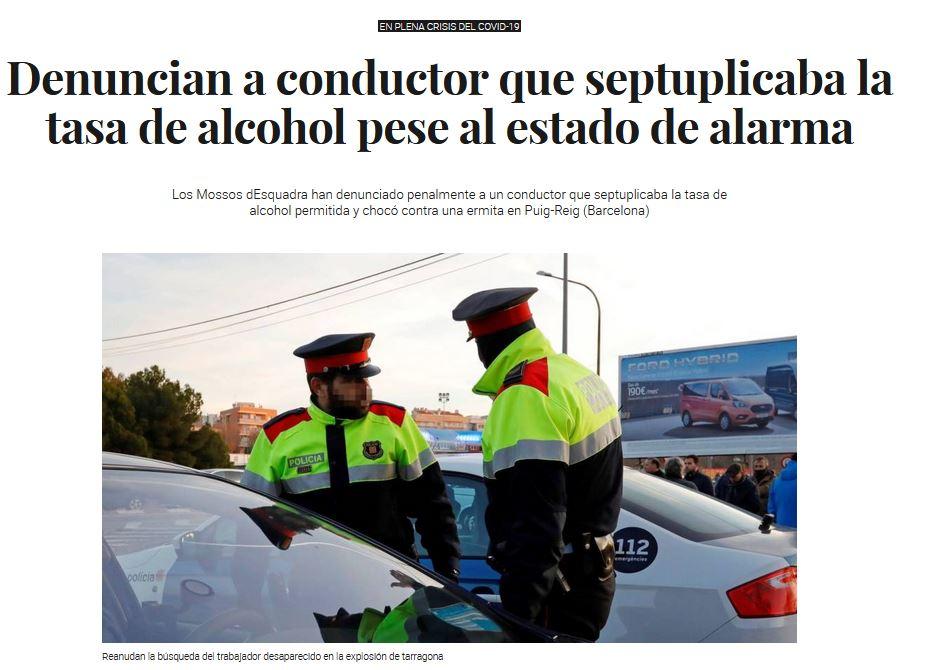 Septuplicaba Tasa de alcohol