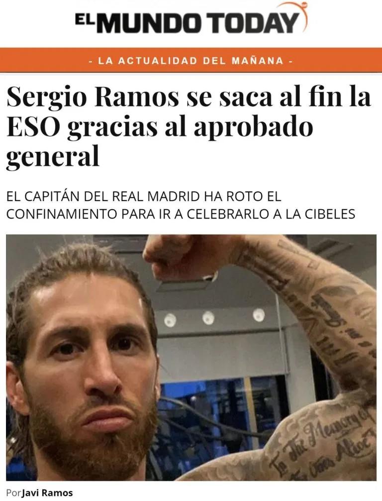 Sergio ramos aprobado general ESO