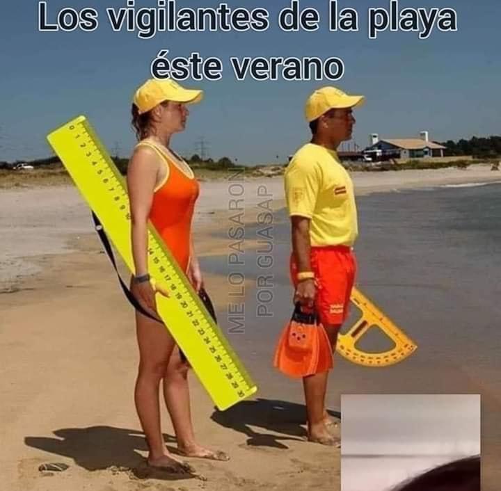 Los vigilantes de la playa Covid