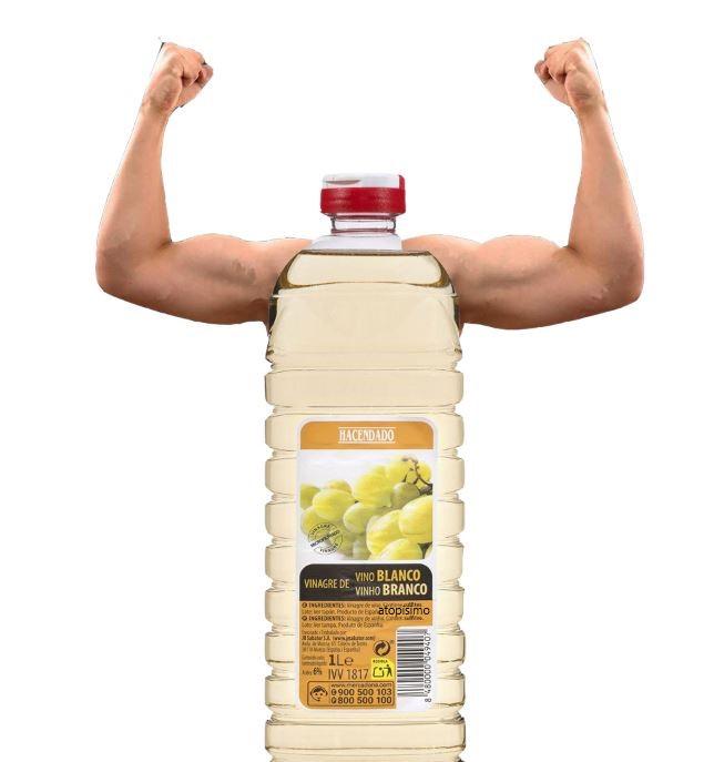 Vinagre con músculos