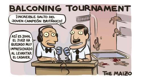 Comentando un torneo de balconing