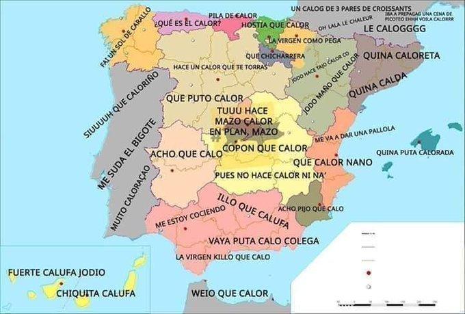 Mapa de calor de España