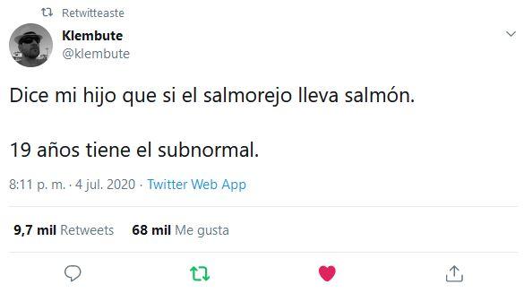 El salmorejo lleva salmón
