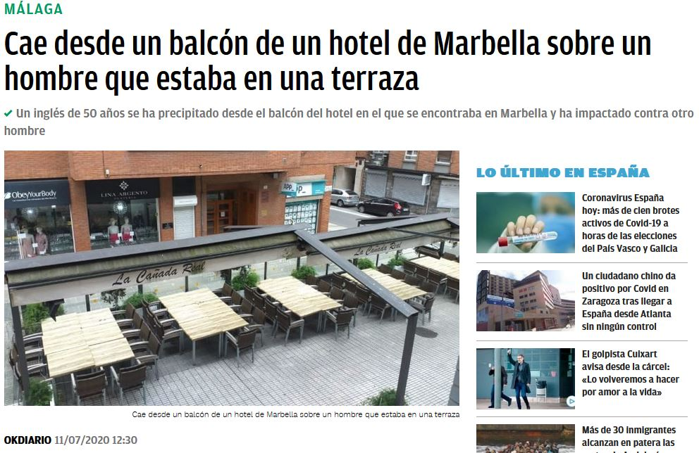 Balconing inglés terraza