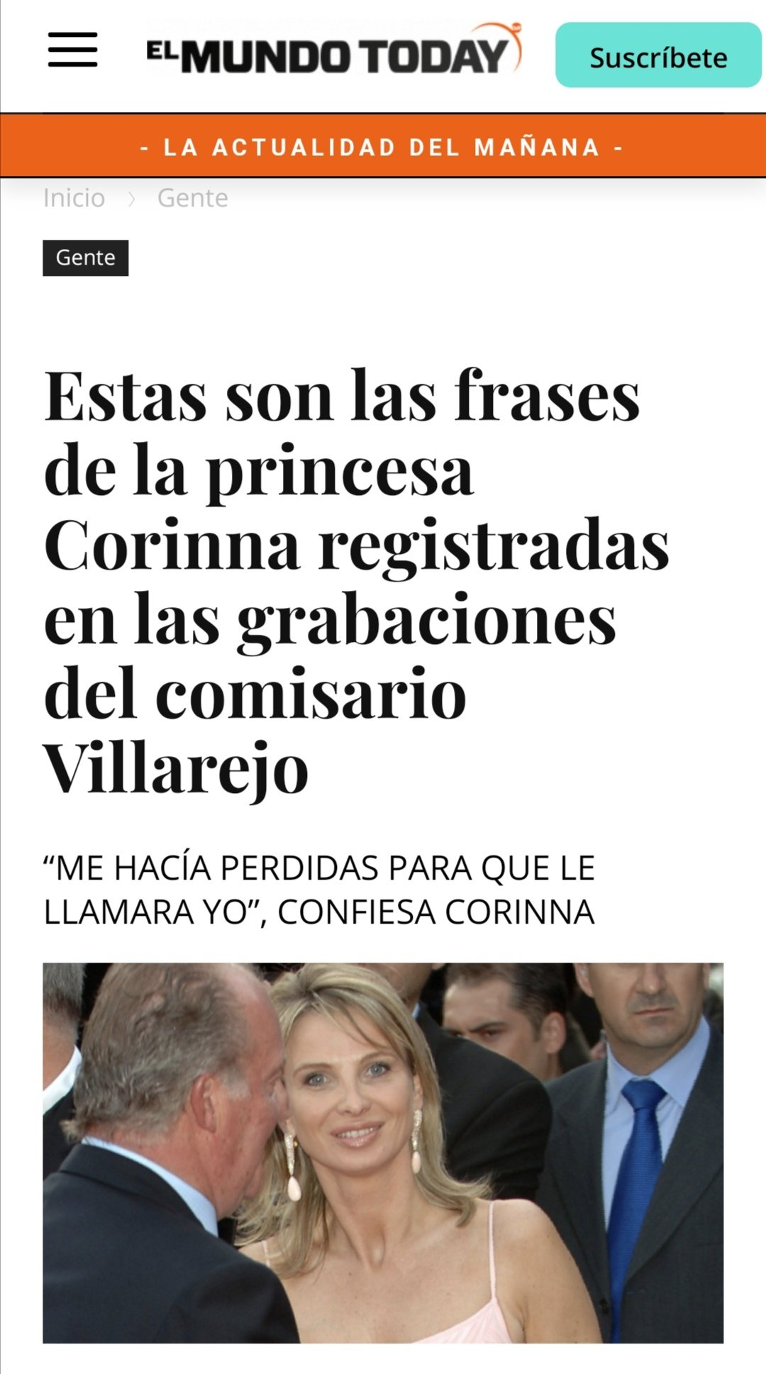 El Faro de Vigo Corina frases