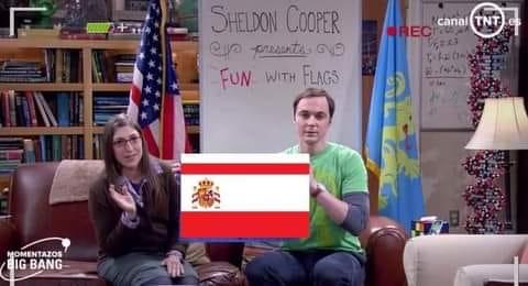 Diversión con banderas España Sheldon