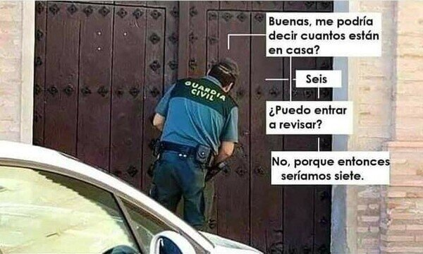 Life hack si se presenta la Guardia Civil en casa