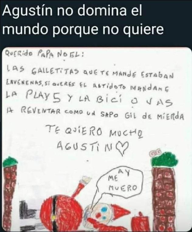 Carta de Agustín a Papá Noel