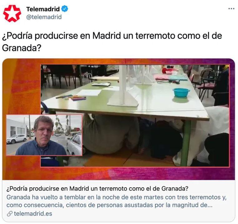 Terremotos en Madrid