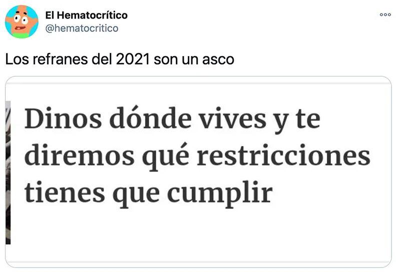 Los refranes de 2021 no molan