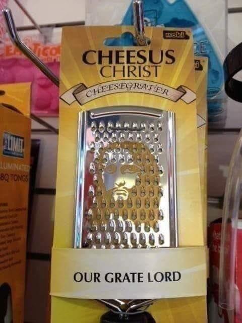 Cheesus Christ rallador de queso Jesús