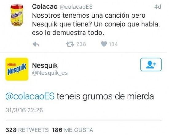 @colacaoES VS @Nesquik_es