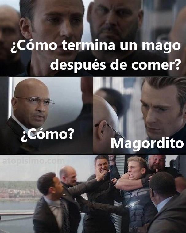 Meme Capitán América MAGORDITO