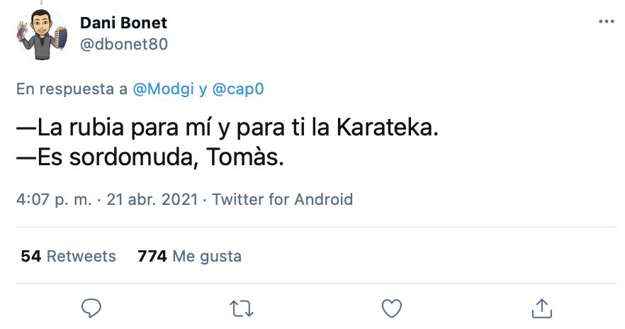 No le gusta la Karateka