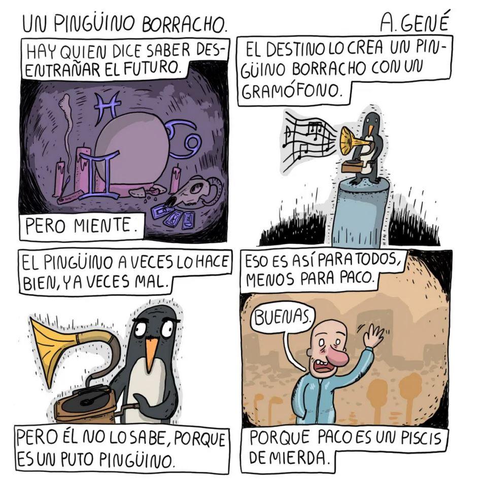 Un pingüino borracho